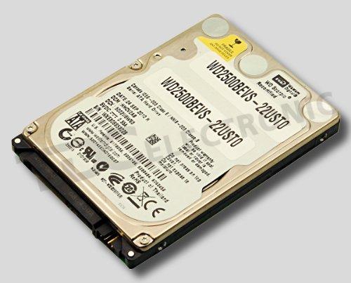 Festplatte WD 250GB WD2500BEVS-22USTO (SATA I) 5,4rpm WDC:WD2500BEVS-125