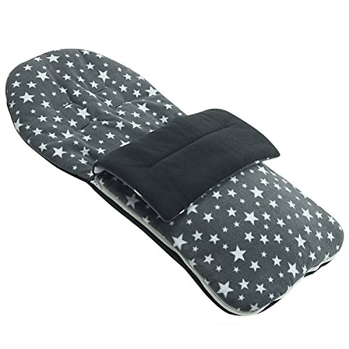 Fleece Fußsack kompatibel mit Stokke Scoot crusi trailz – Grau Star