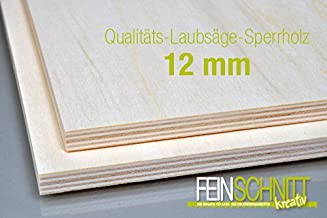 PiHaMi/® 15 mm Birke Sperrholzplatte Qualit/ät B//BB 76 x 30cm GP 28,46 /€ pro m/²