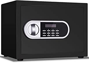 JJYPY Digital Electronic Security Safe Box, Home Cabinet Safe with Keys Digital Lock for Jewelry Money Cash Valuables (Col...