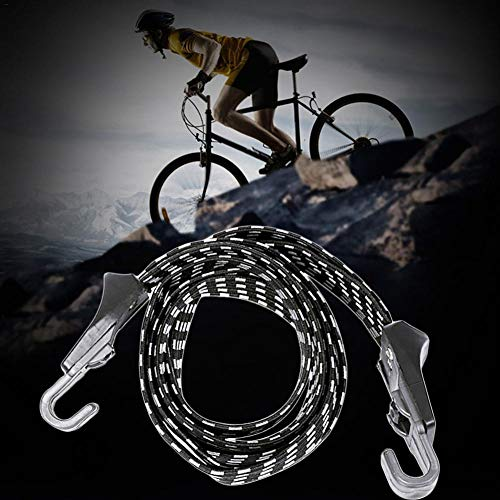 Rlorie Bicycle Elastic Hooks Rope, Fixed Strap Band Bungee Ties Luggage Strap Rope Bike Motorcycle Luggage Rope eco friendly