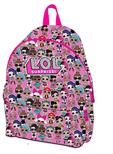 L.O.L Surprise - Zaino per bambini e bambine, con tasca frontale