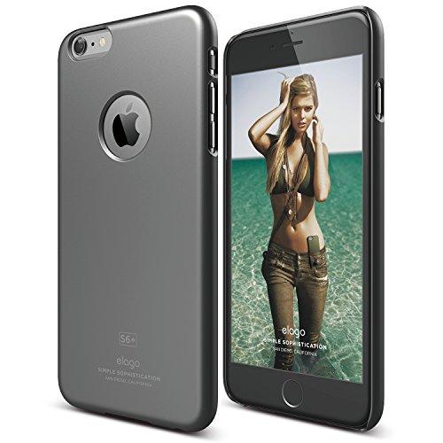 elago [Slim Fit][Matte Metallic Dark Grey] - [Light][Minimalistic][True Fit] – for iPhone 6/6S Plus