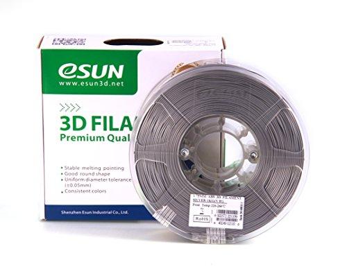 eSUN 3d stampante filamento pla + 1,75mm 1kg Argento