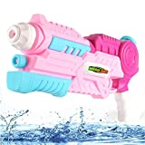 Super Pistola de Agua Soaker Squirt Water Blaster Outdoor Beach Garden Water Fun Activity y Adult Blaster (Rosado)
