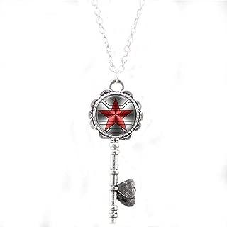 Bucky Barnes aka Winter Soldier Logo Key Necklace