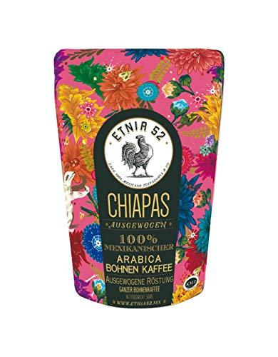 ETNIA52 | Mexikanischer Kaffee | Beste Qualität aus Mexiko | Handgeerntet | Sonnengetrocknet | Trommelröstung | 500 Gramm Packung | Ganze Bohne (Chiapas)