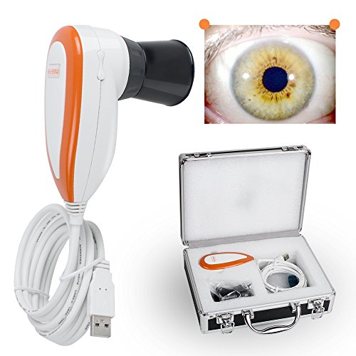 Pevor 5.0 MP USB Iriscope Iris Analyzer Iridologie Camera met Pro Iris Software Resolutie 2560x1920 Speciale DSP Image Processor Dual Image Vergelijk Functie
