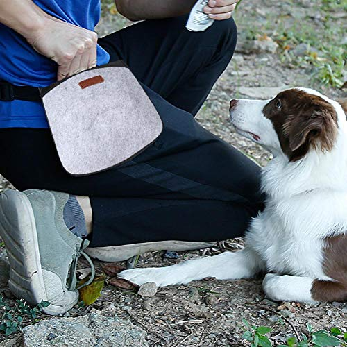 Bolsas de EVA y Tela de Fieltro para Cachorros, Bolsa de Entrenamiento para Perros, 3 Colores para pasear Perros, Entrenar Perros y Mascotas(Gray)