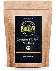 Darjeeling First Flush Organic 250g - Top Biologische zwarte thee - Verpakt in Duitsland (DE-ECO-005) - veganistisch - losse bladeren