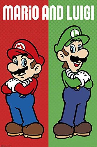 Super Mario Poster Mario & Luigi (61cm x 91,5cm) + Ü-Poster