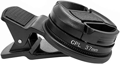 37MM Circular Universal Portable Polarizer Camera Lens CPL Filter Professional(Black)