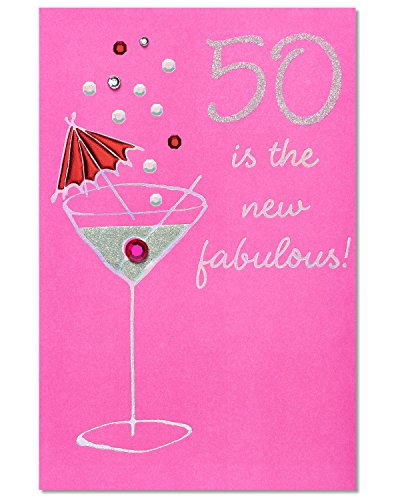 American Greetings 50th Birthday Card for Her (50 Is The New Fabulous)