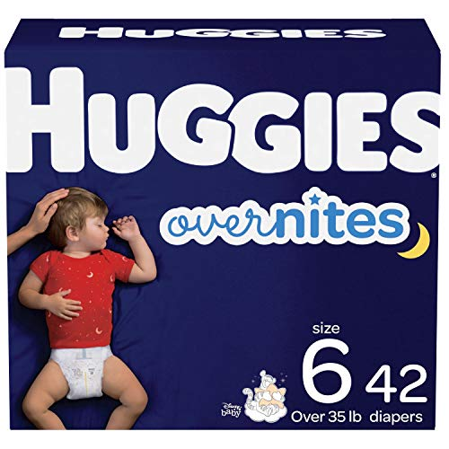 Nighttime Baby Diapers Size 6, 42 Ct, Huggies Overnites