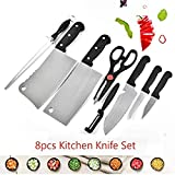 Store Kuvindhsh Stainless Steel Kitchen 8 -Pcs Knife Set with 3 Vegetable