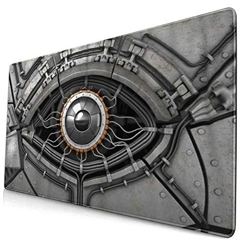 CANCAKA Large Gaming Mouse Pad,Robot Eye with Wires Futuristic Technology Cyborg Mechanical Industrial Fantastic,Non-Slip Rubber Mouse Pads Mousepad for Gaming Computer Office Desk,75×40×0.3cm