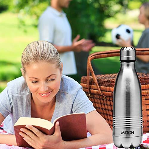 画像/インドのハウスウェアブランド・HAMILTON社の、ステンレススチール製ウォーターボトル「MILTON  THERMO BOTTLE(ミルトン サーモボトル)