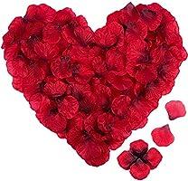 4000PCS Pétales de Rose Rouge Artificielle en Soie pour Décoration de Mariage, Saint Valentin, Fête, Anniversaire...