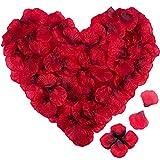 4000pz Petali di Rosa Finti Rossi IDEALHOUSE - Petali di Fiori Artificiale - Sorprese Romantiche Regalo per Matrimonio/San Valentino/Compleanno/Anniversario (Rosso)