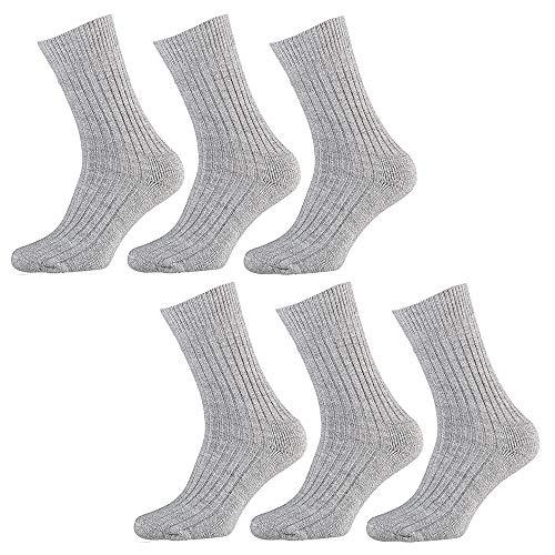 Apollo Herren Socken Half Terry Bottom, Arbeit Grau, 43/46