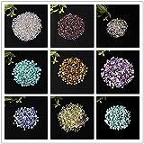 LVYAN Piedra de Color de decoración para Acuario Piedra de energía curativa Roca Min 50G / 100G Muestra de Grava de Cristal Natural Espécimen de Grava de Cristal para el hogar