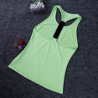 Ladies Sleeveless Yoga Shirt Gym Running Stretch Sweat Fitness Yoga Top Vest