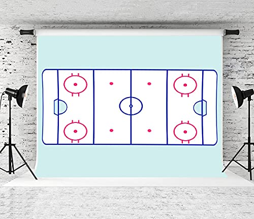 NANITHG Photography Background an ice Hockey Court Party Decoration Banner Photo Booth Backdrop for Studio Props 10x7FT