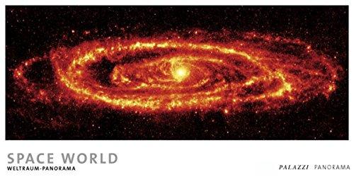 SPACE WORLD - Panorama Zeitlos Kalender - Weltraum / Astronomie - 100 x 50 cm