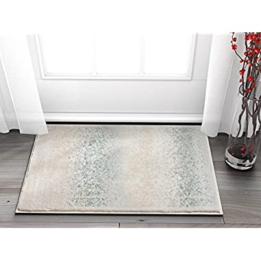 Well Woven Celine Mint Blue Persian Vintage Medallion Area Rug 2x3 (20 x31 ) Small Mat Modern Distressed Oriental Plush Super Soft Carpet