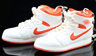 Air Jordan I 1 Retro High Orange White OG Sneakers Shoes 3D Keychain Figure