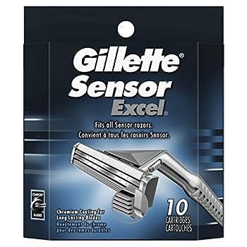Gillette Sensor Excel Men s Razor Blade Refills 10 Count