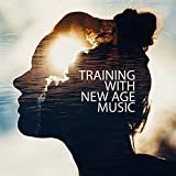 Training with New Age Music. Sports Activities with Interesting Sounds. Pleasant Atmosphere