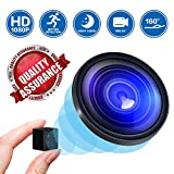 Mini Spy Camera Hidden Nanny Cameras, 2019 1080P HD Night Vision Motion Activated Covert Small Security Camera Cop Cam with Video and Audio for Home, Car, Office ¡­