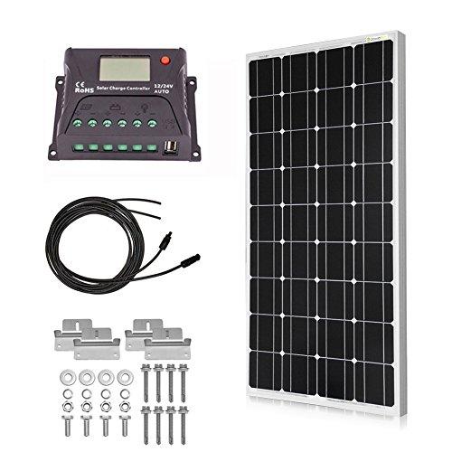 Powereco 100 Watt Solar Kit for 12V Battery of RV review