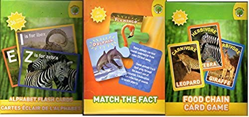 Set of 3 National Geographic Flash Cards by National Geographic Kids