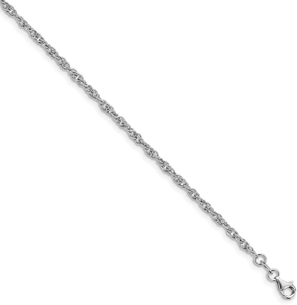 10.5 inch Leslie's Sterling Anklet Chain Silver Fancy New Large special price !! product type