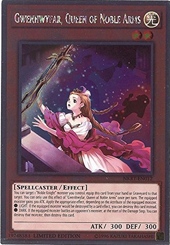 YU-GI-OH! - Gwenhwyfar, Queen of Noble Arms (NKRT-EN012) - Noble Knights of The Round Table - 1st Edition - Platinum Rare