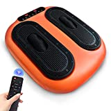 UBETO Vibration Foot Massager with Heat, Adjustable Speed & Program with Rolling Massage for Blood Circulation Improvement and Chronic Pain Relief-Orange