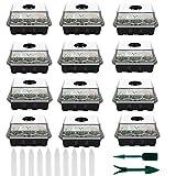 12 Pack Mini Serre pour Semis Plateau de Semis Bac à Semis avec Couvercle...