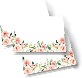 Paper Clever Party Graceful Floral Table Place Cards Folded (25 Pack) Blank Seating or Buffet Signs