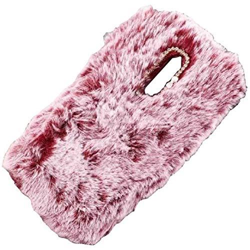 TAITOU - Funda para Samsung S5 Mini (hecha a mano, con forma de bola de lana, suave y cálida, para invierno, diseño completo, ligera, protección delgada, para Samsung S5 Mini, color rojo