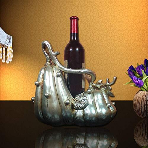 CMMT Rack de Vino Creativo Europeo casa Sala de Estar decoración Adornos Regalo de Boda gabinete de Vino Resina DE Resina DE Alcohol 32 * 18 * 30cm