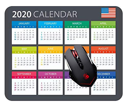 2020 Calendar HD Font Mouse pad Gaming Mouse pad Mousepad Nonslip Rubber Backing