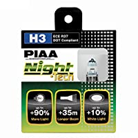 PIAA 10703 H3ナイトテック高性能ハロゲン電球、(2パック)