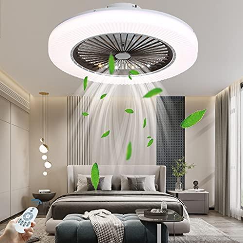 Moderno ventilador de techo LED luz ventilador inversor luz de techo acrílico velocidad del viento ajustable con control remoto luz del ventilador del dormitorio