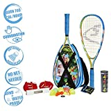Speedminton S700 Set - Original badminton de velocidad / crossminton all-round set incluye 2 racketas, 5 Gallitos, Cancha facil de armar, maleta