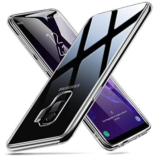 ESR Cover per Samsung Galaxy S9, Custodia Protettiva con Retro in Vetro Temperato 9H [AntiGraffio] + Cornice Paraurti Morbida [Anti Urti] per Samsung Galaxy S9. (Chiaro)