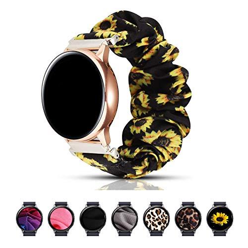 Magwei Band Compatible with Samsung Galaxy Watch Active/Active2 40mm/44mm, Scrunchie Wristband Replacement Compatible for Galaxy Watch 42mm/Gear S2 Classic/Gear Sport Smart Watch (Sunflower)