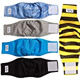 JoyDaog Reusable Belly Bands for Dogs,5 Pack Washable Dog Diapers Male...