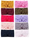Toptim Baby Girl's Headbands and Bows for Newborn Infant Toddler Photographic Accessories (10 Pack-TP9)